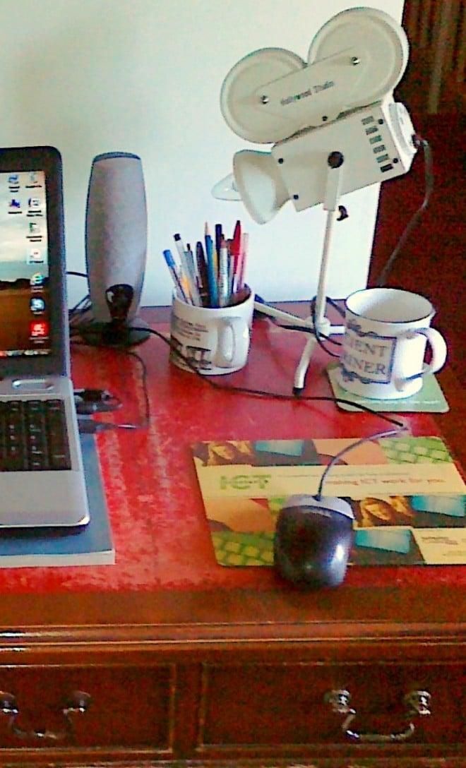 Jeff's desk